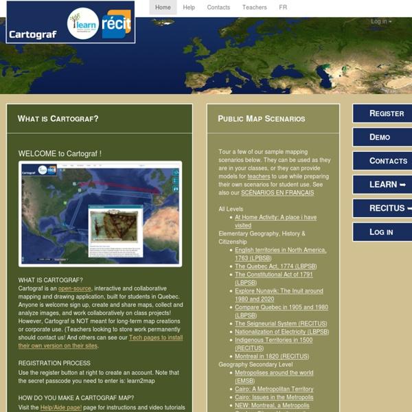 CartoGraf Project - Application interactive de géographie