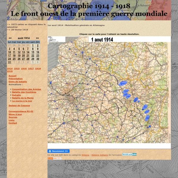 Cartographie 1914-1918