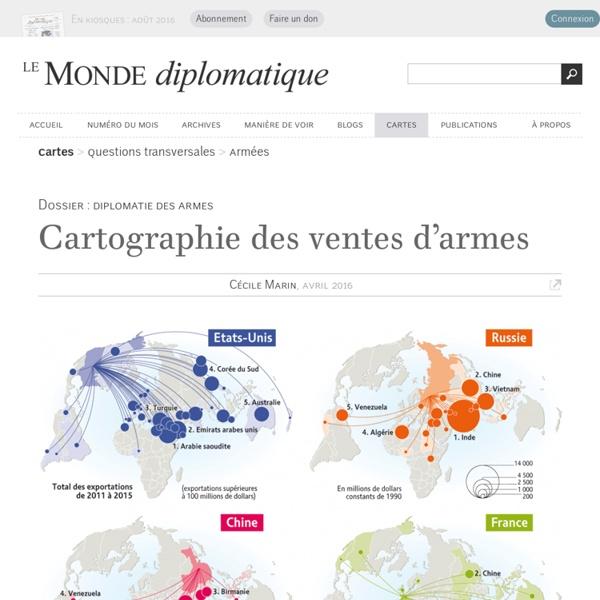 Cartographie des ventes d'armes, par Cécile Marin (Le Monde diplomatique, avril 2016)