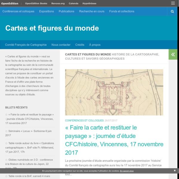 Histoire de la cartographie, cultures et savoirs géographiques
