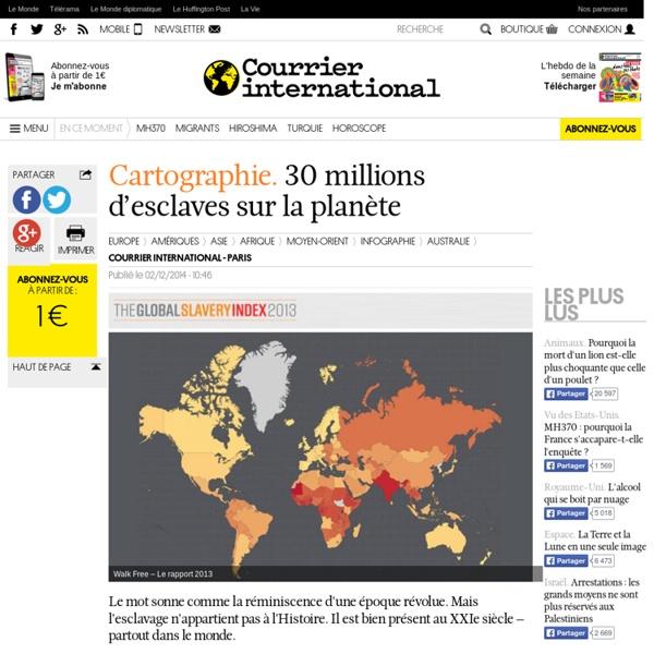Cartes Esclaves dans le monde 2013