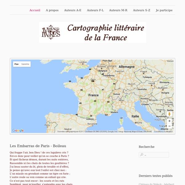 La France des écrivains - Cartographie littéraire participative - Accueil