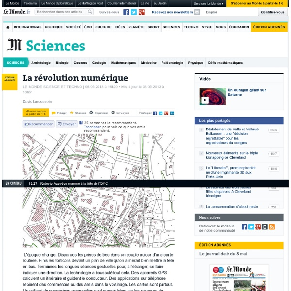 Cartographie : la révolution numérique