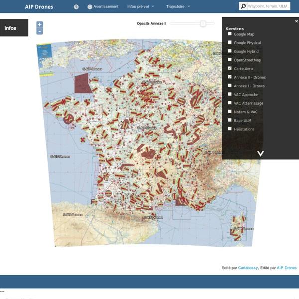 Cartographie spécifique aux Drones en France