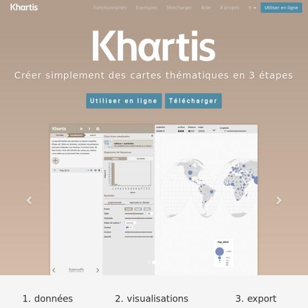 Khartis - cartographie thématique