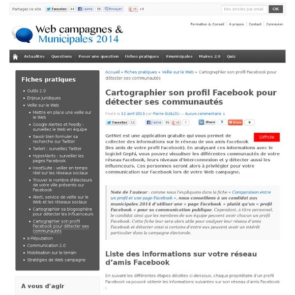 Cartographier son profil Facebook (communautés...)