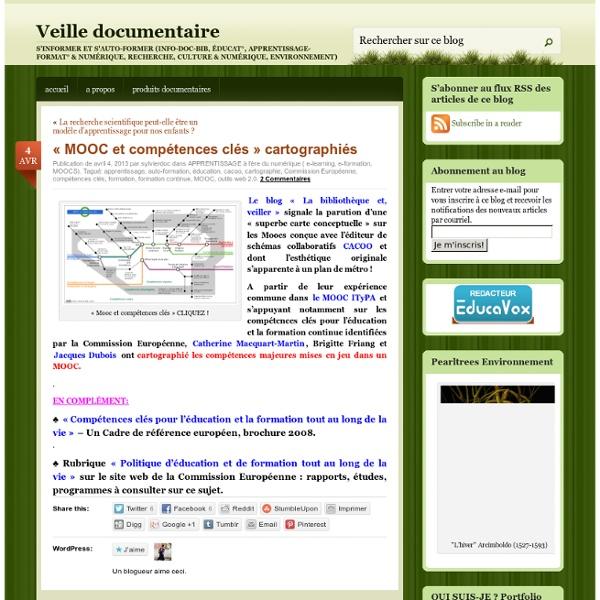 «MOOC et compétences clés cartographiés