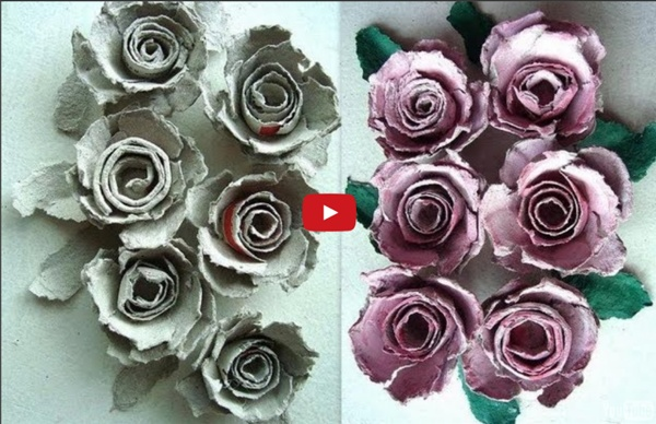 Egg carton roses how to diy recycle paper flowers paper crafts egg carton roses how to diy recycle paper flowers paper crafts paper roses mightylinksfo