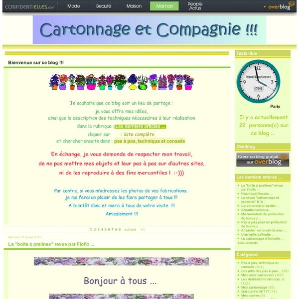 Cartonnage et compagnie !!!