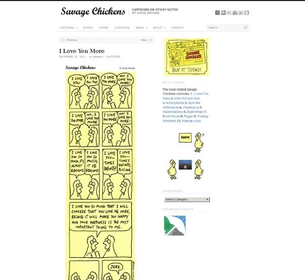 Savage Chickens - Cartoons on Sticky Notes by Doug Savage - StumbleUpon