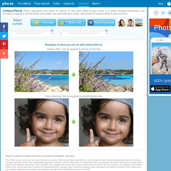 Cartoon Pho to - Convert your photo to cartoon and animate your face
