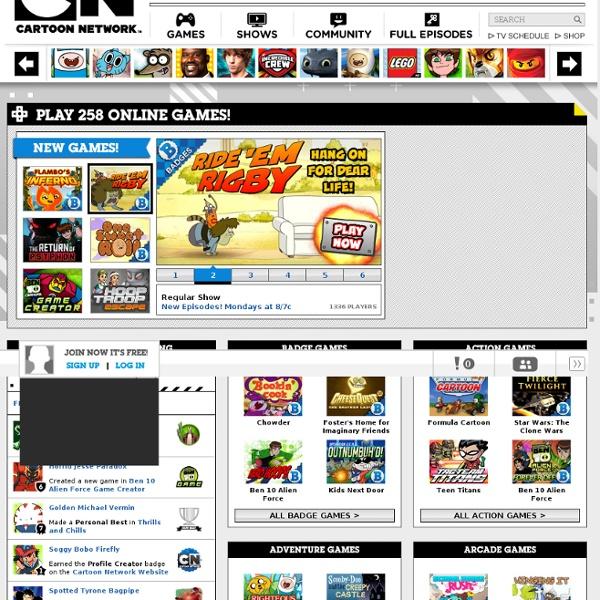 cartoon network free online games shows like ben 10 naruto ...
