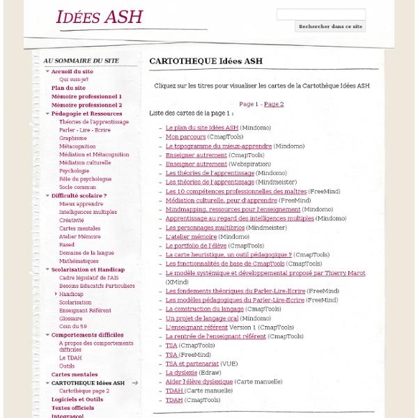CARTOTHEQUE Idées ASH - Idées ASH