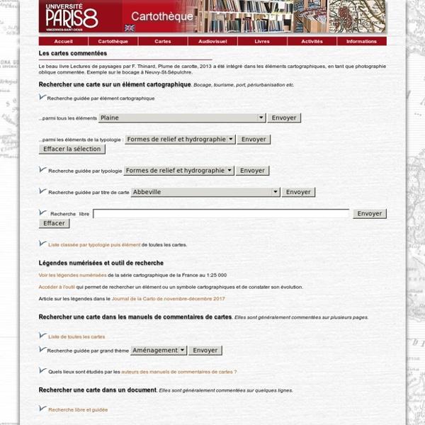 Cartotheque Paris 8 - Cartes