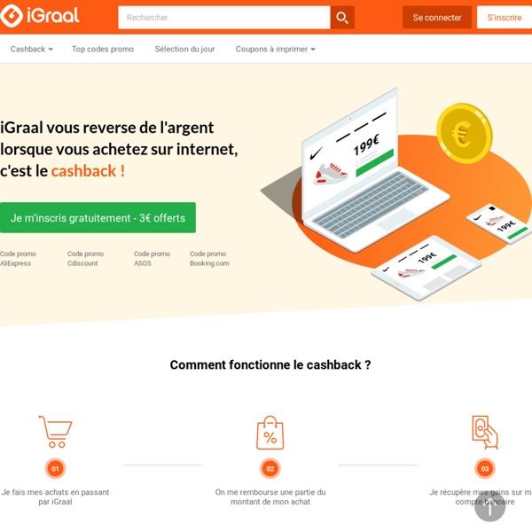 iGraal : Cashback, Codes Promo et Réductions