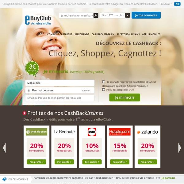 CashBack, Code Promo & Réduction : acheter malin avec eBuyClub