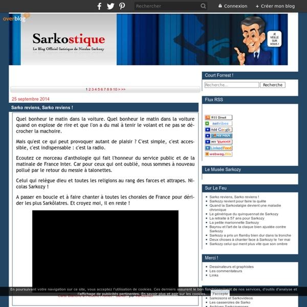 Le blog Satirique de Nicolas Sarkozy de Nagy-Bocsa