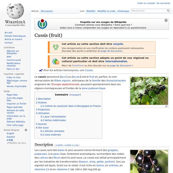 Cassis (fruit)