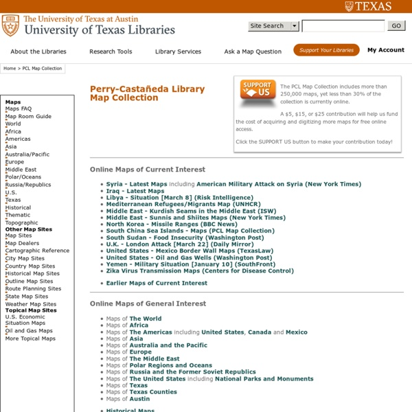 Perry-Castañeda Library Map Collection - UT Library Online