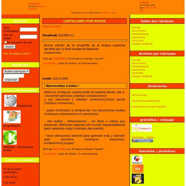 Site de la prof d'Espagnol