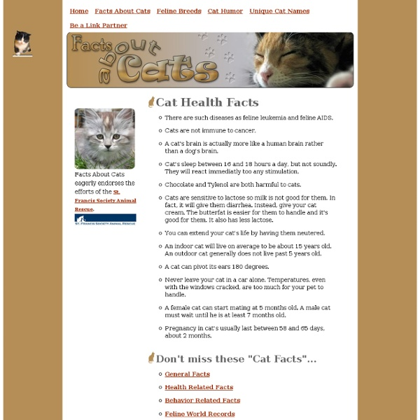 Cat Health Facts
