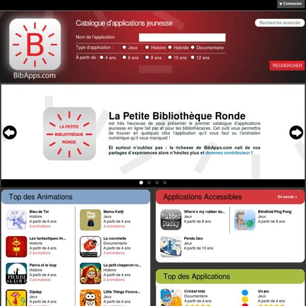 BibApps.com - Catalogue d'applications jeunesse