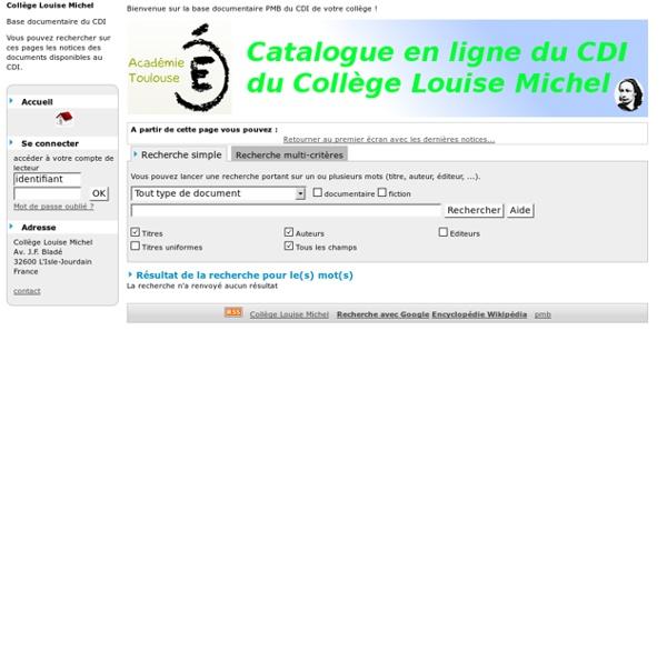 Documents sur le thème à lire au CDI !