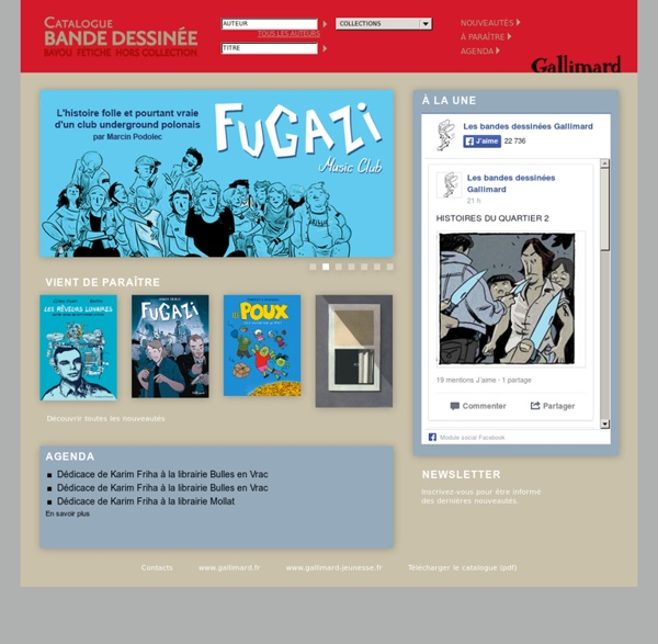 Catalogue Bande Dessinée - Gallimard -