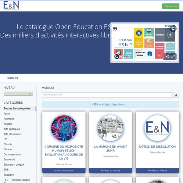 Catalogue Education & Numérique