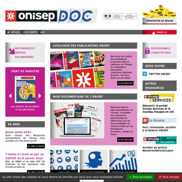 Catalogue en ligne Onisep