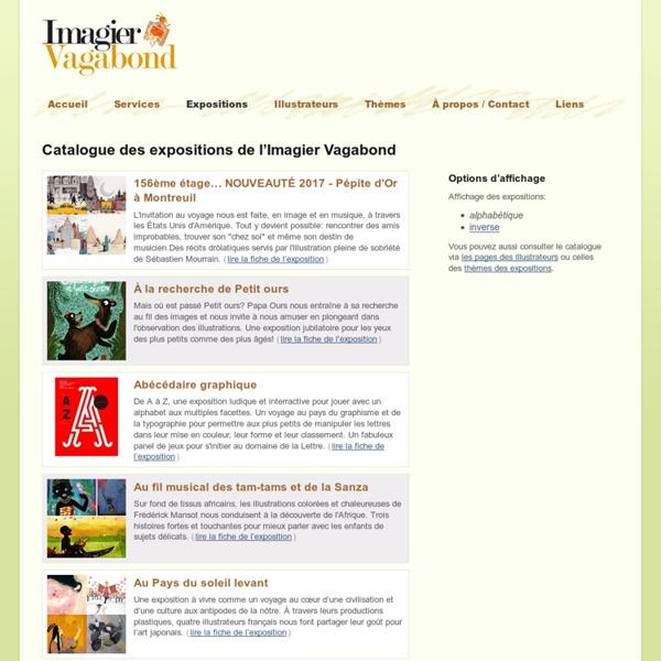 Catalogue des expositions — L'Imagier Vagabond