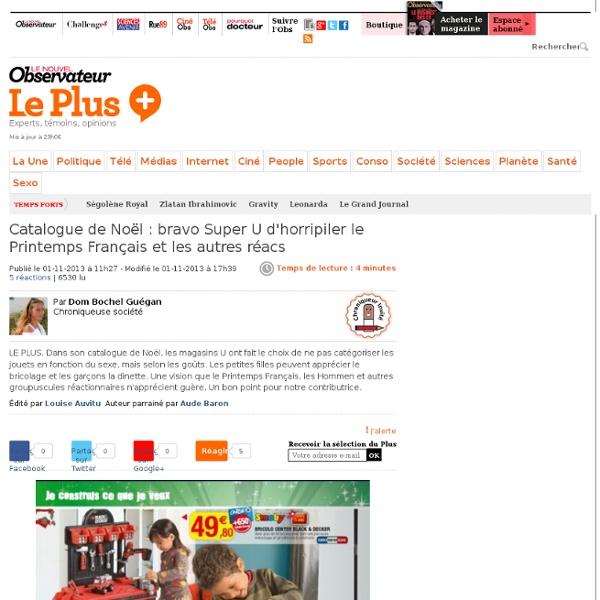 Catalogue de Noël : bravo Super U d'horripiler le Printemps Français et les autres réacs
