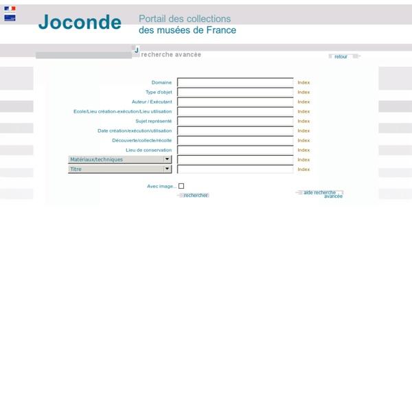 Rechercher des objets dans le catalogue des musées de France