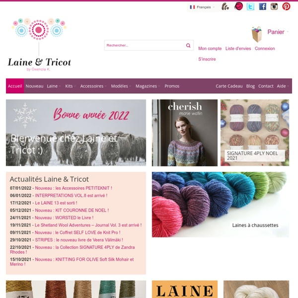 Laine et Tricot : Boutique de vente en ligne de laine à tricoter, catalogues et accessoires tricot