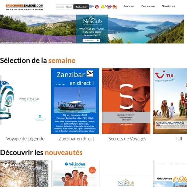 Catalogues, guides, brochures