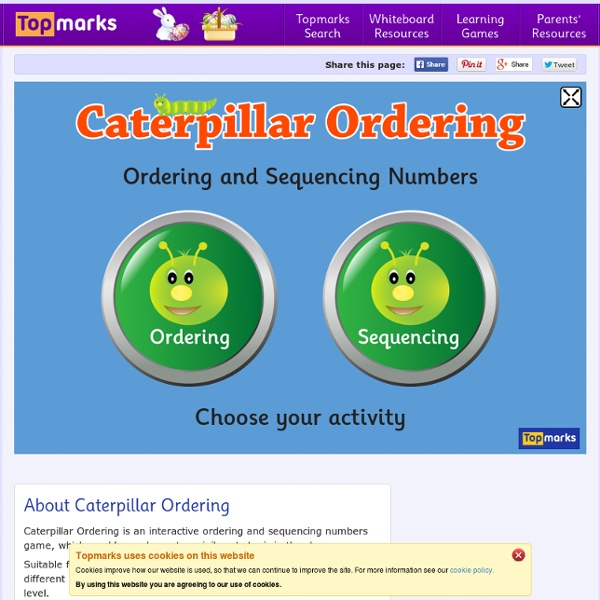 Caterpillar Ordering - An Ordering and Sequencing Game