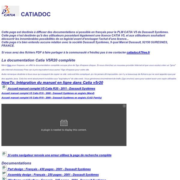 CATIADOC - La documentation et le manuel de Catia V5