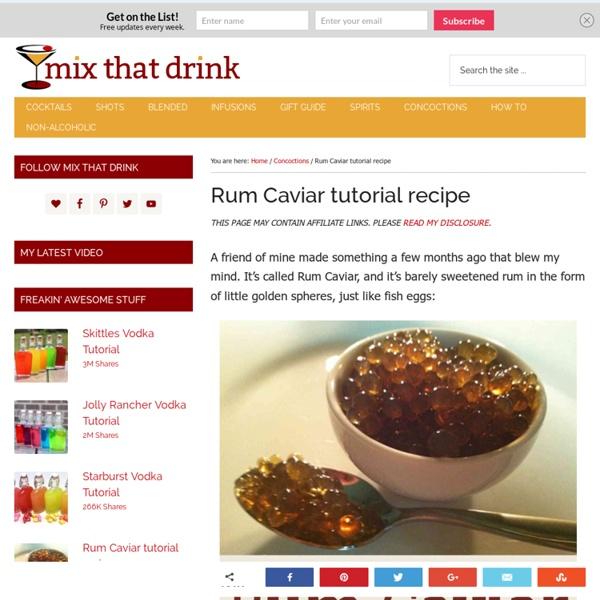 Rum Caviar tutorial