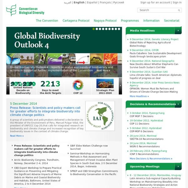 CBD : Convention Biological Diversity