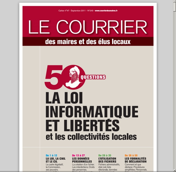 50 questions sur la loi informatique et liberté