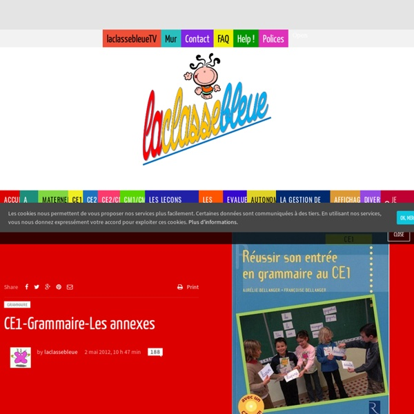 CE1-Grammaire-Les annexes