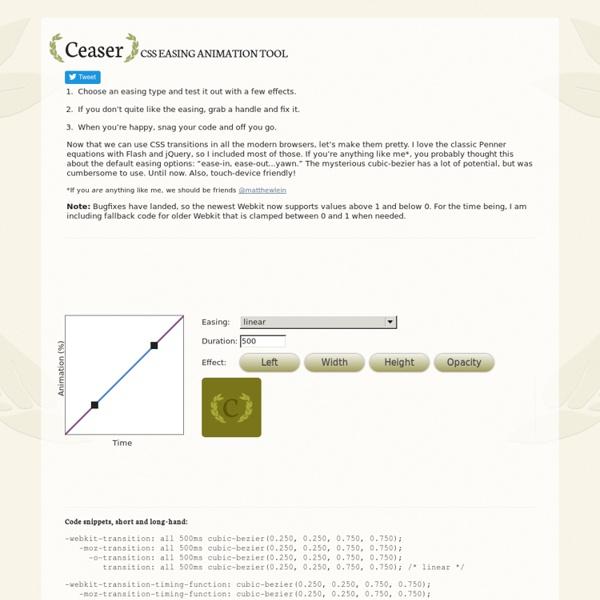 Ceaser - CSS Easing Animation Tool - Matthew Lein