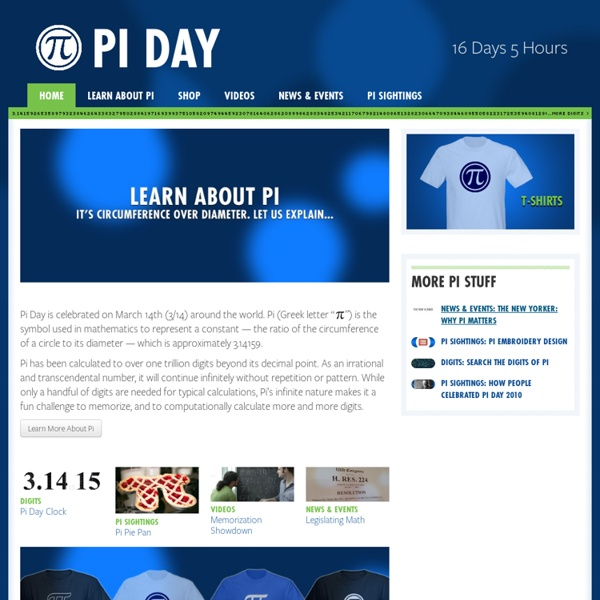 Pi Day · Celebrate Mathematics on March 14th