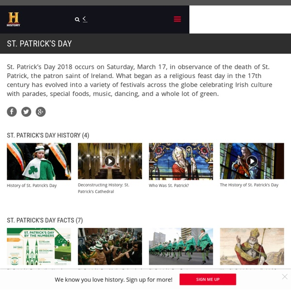 St. Patrick's Day - Facts, Pictures, Meaning & Videos - History.com