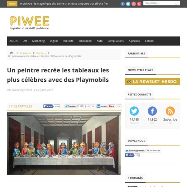 Un peintre recrée les plus célèbres tableaux avec des Playmobils