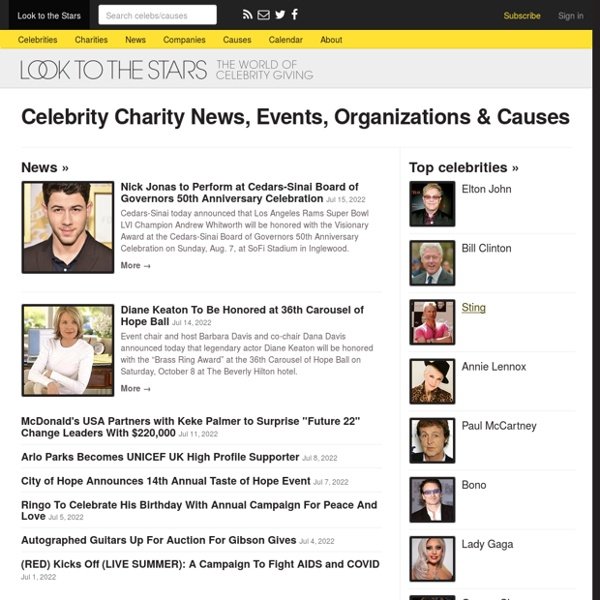 Celebrity Charities: Facts & Daily News - Look to the Stars