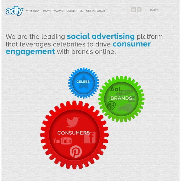 Ad.ly - Celebrity Endorsements in Social Media