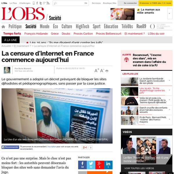 La censure d'internet en France commence aujourd'hui