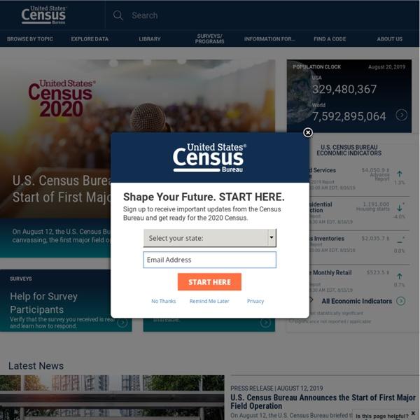 Census Bureau Home Page