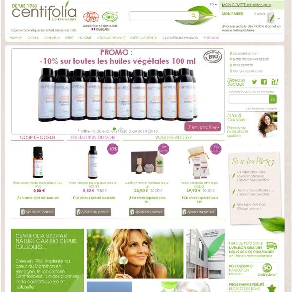 Centifolia - cosmétique bio et naturel, vente en ligne - Centifolia Bio